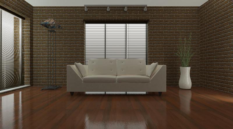 Contemporary interior living space