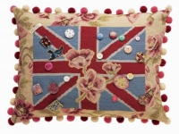 Lucinda Chambers jubilee cushion wallhanging, soft furnishings, Marbella