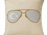Tara Bernerd miss shady gold cushion, soft furnishings, Marbella