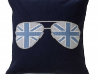 Tara Bernerd shady blue cushion, soft furnishings, Marbella