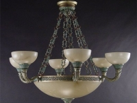antique-brass-verde-chandelier-alabaster-designer ceiling lights marbella
