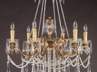 aged-brass-chandelier-interior design marbella