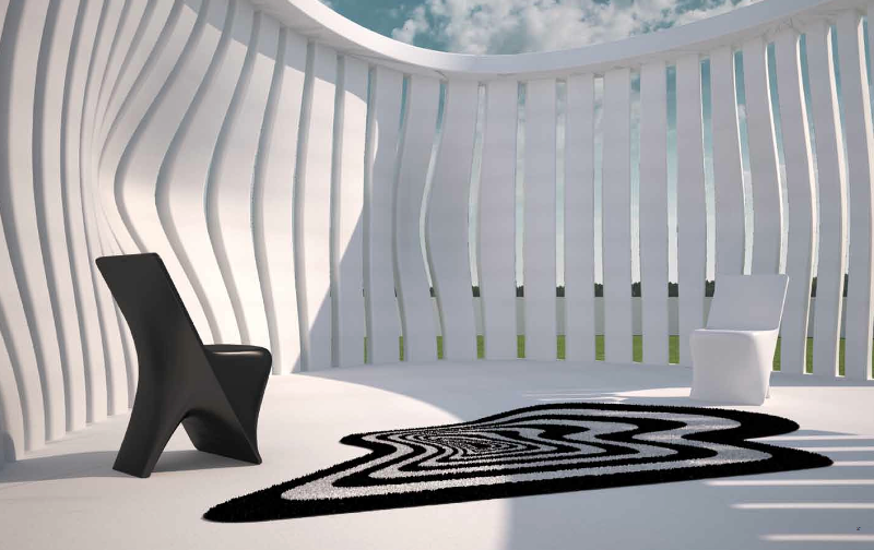 Designer outdoor carpets