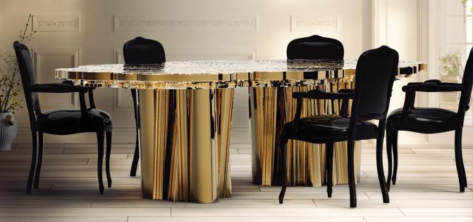 Contemporary Dining Tables Available From Aladecor Interior Design Marbella
