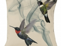 Alexander mcqueen hummingbird ivory cushion, soft furnishings, Marbella