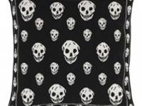 Alexander mcqueen skull black cushion, soft furnishings, Marbella