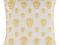 dc amq skulls gold cushion, soft furnishings, Marbella